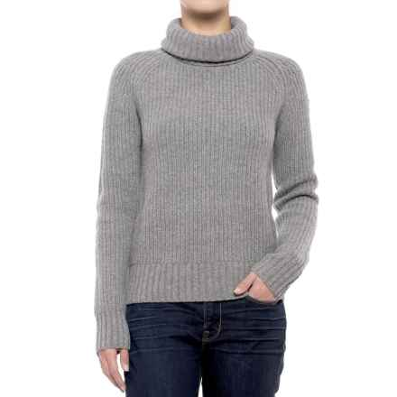 Fjallraven Ovik Roll Cowl Neck Sweater (For Women) in Grey - Closeouts