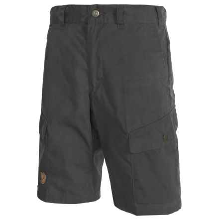 Fjallraven Ruaha Shorts - UPF 50+, Waxed Fabric (For Men) in Dark Grey - Closeouts