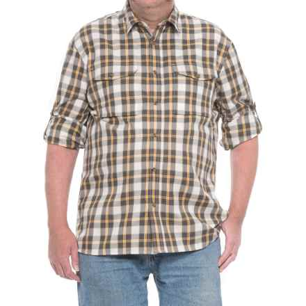 Fjallraven Sarek Plaid Shirt - Long Sleeve (For Men) in Ochre - Closeouts