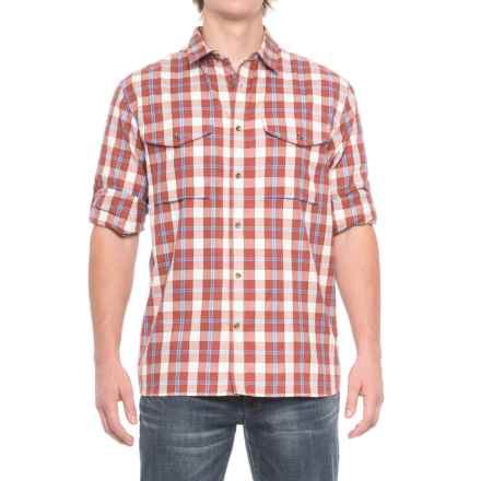 Fjallraven Sarek Plaid Shirt - Long Sleeve (For Men) in Red - Closeouts