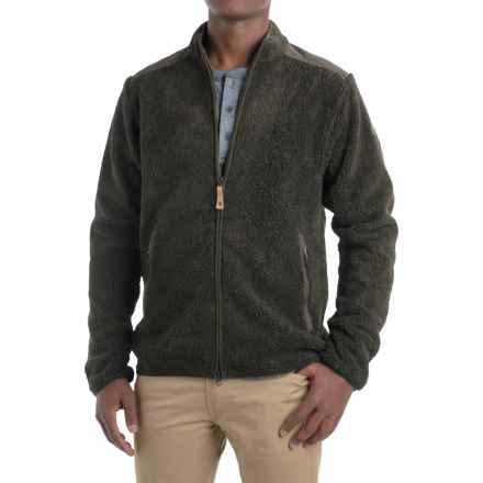 Fjallraven Sarek Sweater - Full Zip (For Men) in Dark Olive - Closeouts