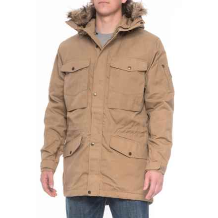 Fjallraven Sarek Winter Jacket - Insulated (For Men) in Sand - Closeouts