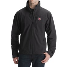 Fjallraven Siebe Storm Blocker Jacket - Soft Shell (For Men) in Black - Closeouts