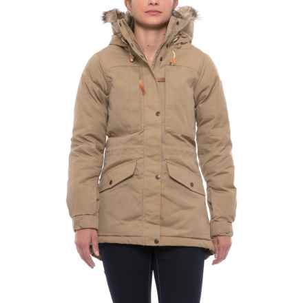Fjallraven Singi Down Jacket - UPF 50+, 500 Fill Power (For Women) in Sand - Closeouts