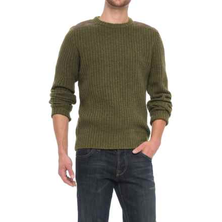 Fjallraven Singi Wool Sweater - UPF 50+ (For Men) in Dark Olive - Closeouts