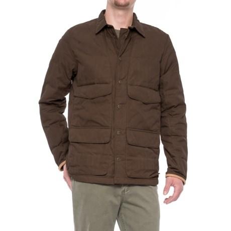 Fjallraven Sormland Down Shirt Jacket (For Men) in Dark Olive