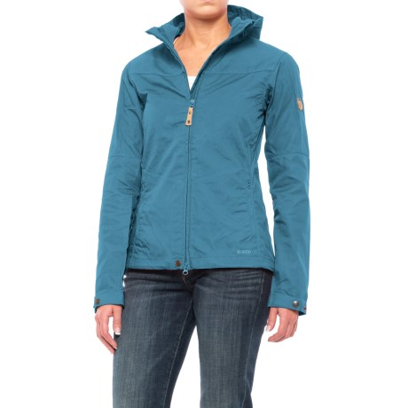 Fjallraven Stina Jacket - UPF 50+ (For Women) in Uncle Blue