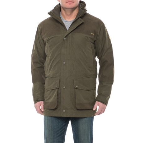 Fjallraven Timber Buck Jacket - Waterproof, Insulated, UPF 50+, 3-in-1 (For Men) in Dark Olive