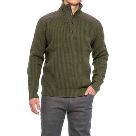 Fjallraven Varmland Turtleneck Sweater - Zip Neck, Lambswool (For Men) in Dark Olive - Closeouts