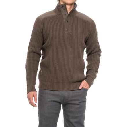 Fjallraven Varmland Turtleneck Sweater - Zip Neck, Lambswool (For Men) in Taupe - Closeouts