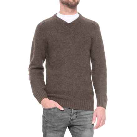 Fjallraven Woods Sweater - V-Neck For Men) in Black Brown - Closeouts