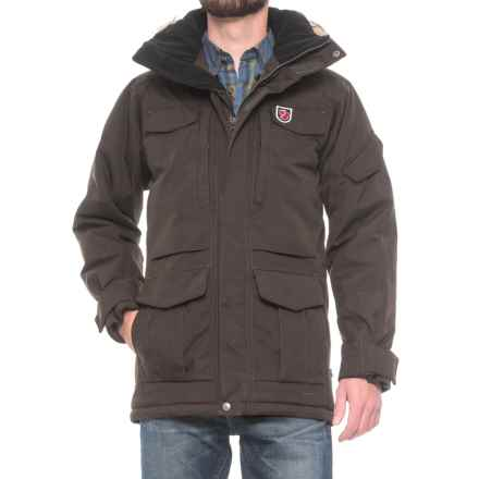 Fjallraven Yupik Parka - Waterproof, Insulated (For Men) in Black Brown - Closeouts