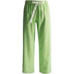 Flannel Animal Print Pajama Bottoms (For Women) in Fleur