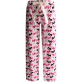 Flannel Animal Print Pajama Bottoms (For Women)