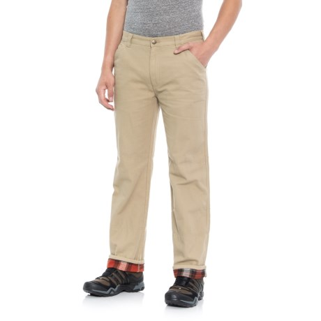 Flannel-Lined Pants (For Men)