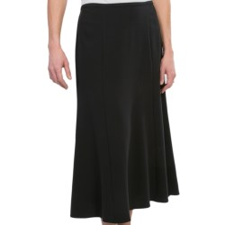 Flared Skirt - Stretch Rayon Blend (For Women) in Black