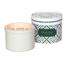 Flashpoint Candle Prairie Point Collection Scented Soy Candle in Oatmeal Ginger / White - Overstock