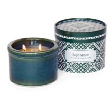 Flashpoint Candle Prairie Point Collection Scented Soy Candle in Sage Wreath / Green - Overstock