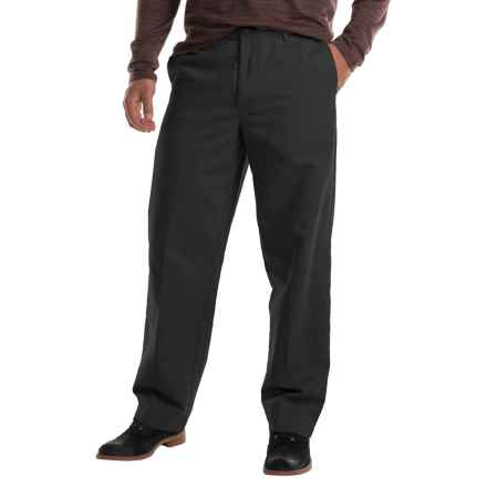 Flat-Front Chino Pants (For Men) in Black - 2nds