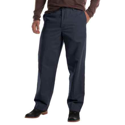 Flat-Front Chino Pants (For Men) in Navy - 2nds
