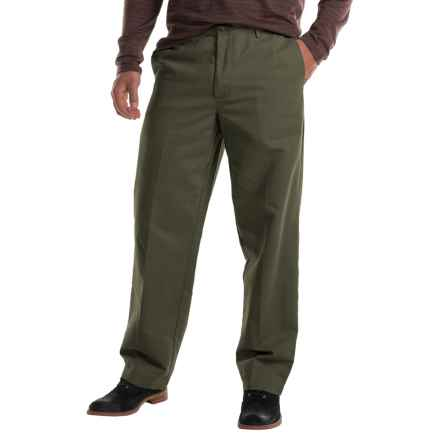 Flat-Front Chino Pants (For Men) in Olive - 2nds