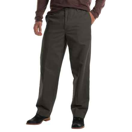 Flat-Front Chino Pants (For Men) in Sage - 2nds
