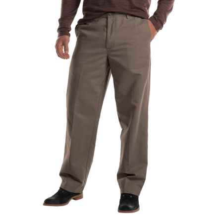 Flat-Front Chino Pants (For Men) in Taupe - 2nds