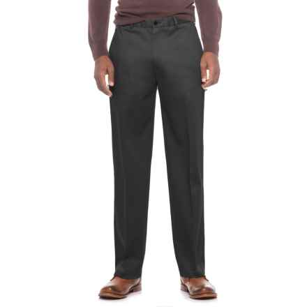 Flat-Front Classic Fit Pants (For Men) in Black - Closeouts