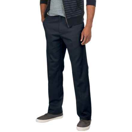 Flat-Front Classic Fit Twill Pants (For Men) in Dark Navy - 2nds