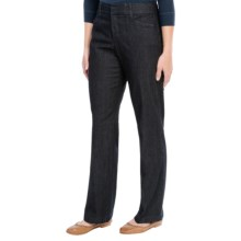 Flat Front Cotton Stretch Pants (For Women) in Denim - 2nds