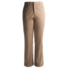 Flat Front Cotton Stretch Pants (For Women) in Tan - 2nds