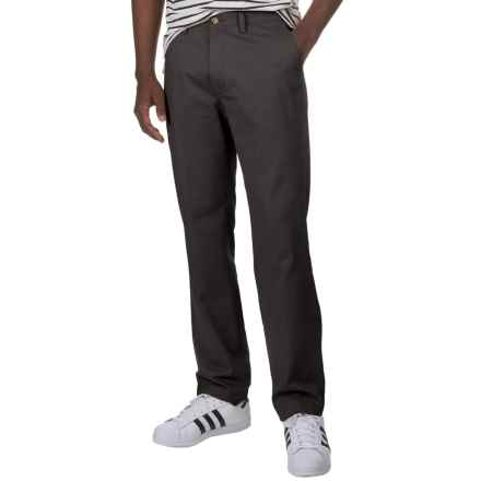 Flat-Front Cotton Twill Pants (For Men) in Black - 2nds