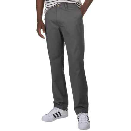 Flat-Front Cotton Twill Pants (For Men) in Charcoal - 2nds