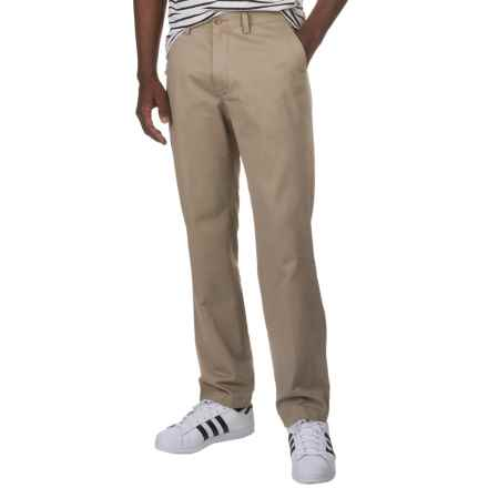 Flat-Front Cotton Twill Pants (For Men) in Light Taupe - 2nds