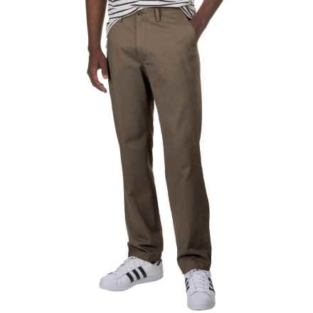 Flat-Front Cotton Twill Pants (For Men) in Taupe - 2nds