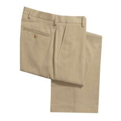 Flat-Front Dress Pants (For Men) in Deep Sand