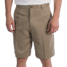 Flat Front Golf Shorts (For Men) in Khaki - 2nds