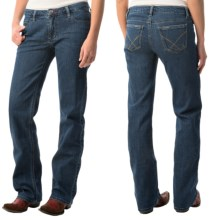 Flat-Front Jeans (For Women) in Dark Indigo - 2nds