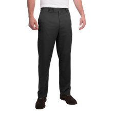 Flat-Front Pants (For Men) in Black - Closeouts