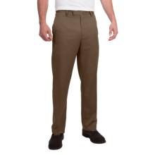 Flat-Front Pants (For Men) in Brown - Closeouts