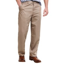 Flat-Front Pants - Straight Leg (For Men) in Beige - 2nds