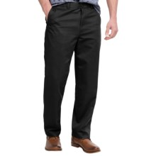 Flat-Front Pants - Straight Leg (For Men) in Black - 2nds