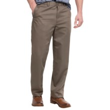 Flat-Front Pants - Straight Leg (For Men) in Taupe - 2nds