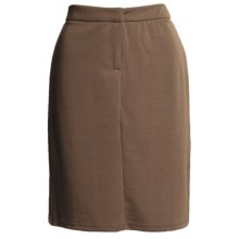 Flat Front Stretch Skirt - Knit (For Women) in Brown - 2nds