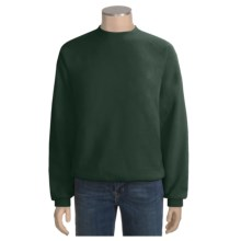 Fleece Crew Neck Sweatshirt - Long Sleeve (For Men and Women) in Dark Green - 2nds