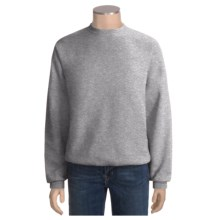 Fleece Crew Neck Sweatshirt - Long Sleeve (For Men and Women) in Grey Heather - 2nds