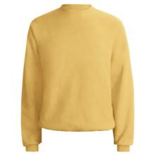 Fleece Crew Neck Sweatshirt - Long Sleeve (For Men and Women) in Yellow, Daffodil Yellow - 2nds