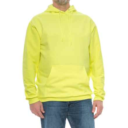 Fleece Hoodie (For Tall Men) in Fluorescent Yellow - Closeouts
