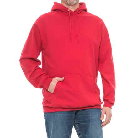 Fleece Hoodie (For Tall Men) in Red - Closeouts