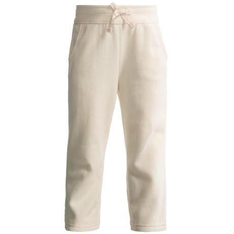 Fleece Pocket Pants (For Infant and Toddler Girls) in Cream